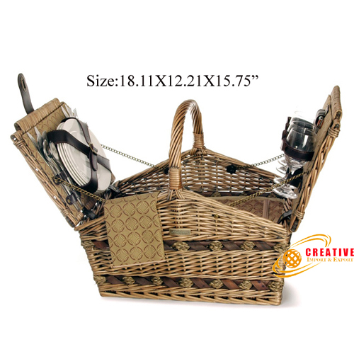Picnic basket 4 persons use