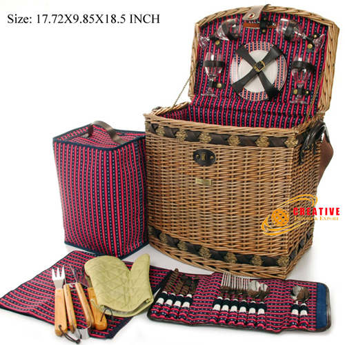 Willow Picnic Basket 4 persons