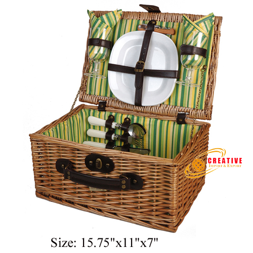 Willow Picnic Basket 2 persons