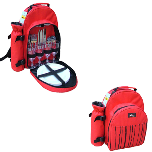 Picnic Backpack 4 perons red