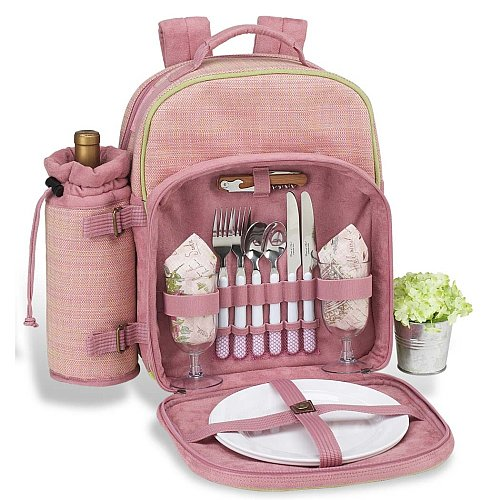 Pink Color Picnic Backpack 2 persons